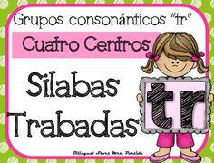 """NO PREP! Spanish Blends """"Tr""""  CCSS NO REQUIERE PREPARACION!  Este paquete incluye cuatro centros o estaciones  para las silabas trabadas o grupos consonnticos  """"tra, tre, tri, tro, tru"""" con hojas de registro para los estudiantes a diferentes niveles.CCSS:    RF.K.2.B RF.K.1.C , RF.2.3.D, RF.2.3.C, RF.2.3.F, RF.1.1 A, RF.1.2.A, RF.1.2.D,  RF.1.3.A, RF. 1.3, RF.1.3.DB, RF.1.3.D,  RF.1.3.G,  RF.1.4.B , RF.K.1.B, RF.K.2.B,RF.K.3.A, LK.2DCentros:1.- Tapetes de silabas trabadas para plastilina5…"""