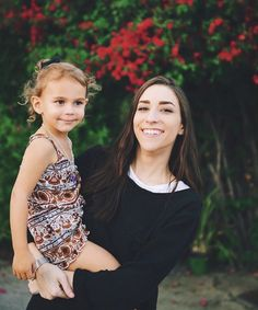 Ally Hills and Her little niece.