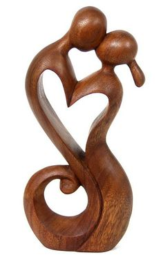 Wood sculpture, 'Everlasting Kiss' by NOVICA Many beautiful sculptures. Anniversary gift I think.