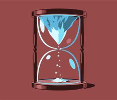 Illustration of a Mountain in a Hourglass | The Squeaky Voice