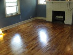 DIY: How to refinish hardwood floors yourself! About to tackle this!