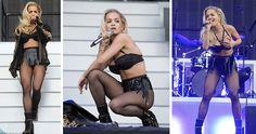 Pop superstar Rita Ora donned the latest raunchy designs from De Montfort University Leicester graduate Nichole de Carle at the weekend's 10th anniversary running of Wireless Festival.