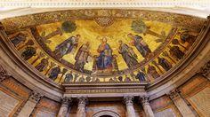Apse mosaic | Basilica Papale San Paolo fuori le Mura, Rome, Italy