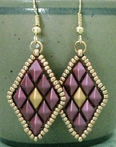 Linda's Crafty Inspirations: Free Beading Pattern - Toni Earrings                                                                                                                                                                                 More