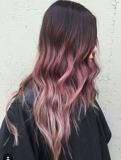 Beautiful ombré pinkish rose gold