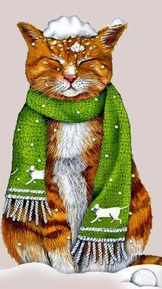 Cute Cats, Funny Cats, Street Cat Bob, Silver Tabby Cat, Here Kitty Kitty, Cat Drawing, Christmas Cats, Cute Illustration, Cat Memes
