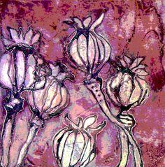 Risultati immagini per collograph Fabric Painting, Fabric Art, Collagraph Printmaking, Nature Artists, Collage Art Mixed Media, Linoprint, Print Artist, Art Sketchbook, Art Techniques