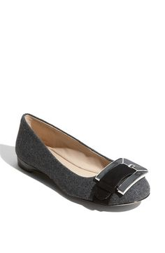 gee, I'm a sucker for gray wool/flannel flats. franco sarto artist collection jackson flat.