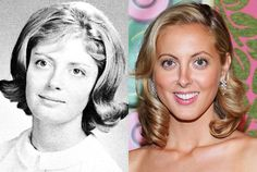 Eva Amurri and mother Susan Sarandon.  Eva's famous mom is Academy Award-winning actress Susan Sarandon, seen here sporting a charming flip in her 1964 Edison, New Jersey, high school photo. Mother and daughter acted together in 2002′s The Banger Sisters.