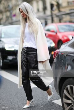 News Photo : Sarah Harris is seen, outside the Ellery show,...
