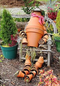 Flower Pot Person Art Print by Allen Nice-Webb Thing 1, Flower Pots, Flowers, Garden Spaces, Got Print, Landscape Photos, Wonderful Images, All Art, Galleries