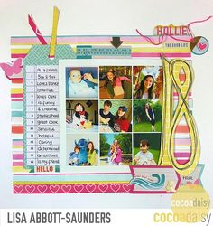 18, by Lisa Saunders using the Under the Sea collection from www.cocoadaisy.com #cocoadaisy #kitclub #scrapbooking #layout #grid #list #tag #ribbon #handcut #fussycut #doodle #diecuts #stripes