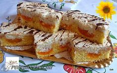 Kókuszhabos barackos szelet recept fotóval Bread Recipes, Cooking Recipes, Cake Bars, Sweet Bread, Cake Cookies, Coco, French Toast, Food And Drink, Favorite Recipes