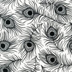 Robert Kaufman Night and Day 4 Black Peacock by luckykaerufabric, $4.55
