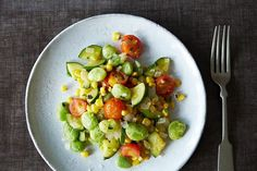 Vegan Summer Succotash | By: Gena Hamshaw | Run, don't walk, to make this succotash as soon as you have fresh cherry tomatoes. The combination of sweet vegetables and buttery coconut oil makes this easy dinner an irresistible delight. | Via: food52.com