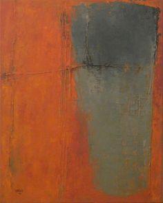 Myriam Sardis, sans titre - a perfectly subtle rendering of complements orange & blue~