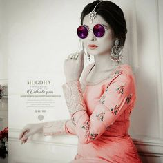 Beautiful Suit, Jennifer Winget, Most Favorite, Maya, Jewelry Collection, Round Sunglasses, Beautiful Pictures, Swag, Girly