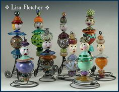 Lisa Fletcher Little Bead People - even more awesome in person!