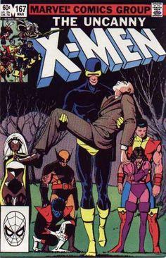 Uncanny X-Men 167 - Cyclops carries Professor X - Paul Smith