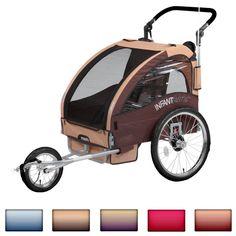 Infantastic® FAH16-Dark Purple Child Bike Trailer Buggy + Jogger (Purple): Amazon.co.uk: Sports & Outdoors