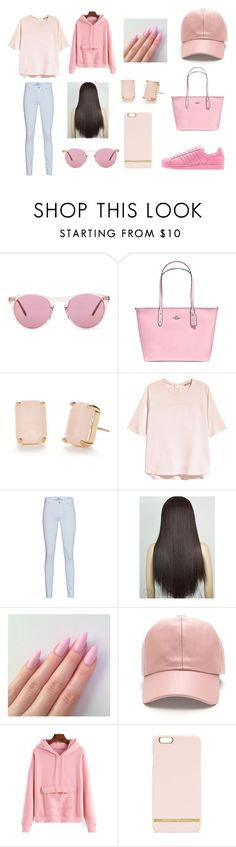 """""""Pink"""" by annaschluter on Polyvore featuring adidas, Oliver Peoples, Coach, Kate Spade, H&M, 7 For All Mankind and Richmond & Finch"""