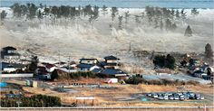 The waves of the tsunami hit residences in Natori. | Japan 3/10/11