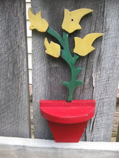 Vintage Painted Wood Garden Shelf by AuntCatCat on Etsy https://www.etsy.com/listing/464348621/vintage-painted-wood-garden-shelf