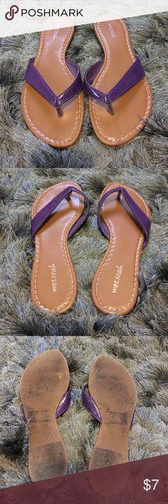 Purple sandals Purple sandals Wet Seal Shoes Sandals