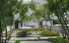 Modern Urban Garden Design Ideas to Try in 2017 - Urban Garden Design, Garden Landscape Design, Urban Landscape, Back Gardens, Small Gardens, Outdoor Gardens, Roof Gardens, Architecture Courtyard, Landscape Architecture