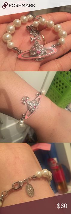New vivienne Westwood pink orb pearl bracelet New only worn for pic, never worn outside the house. Does not come with a box. Price reflects quality Vivienne Westwood Jewelry Bracelets