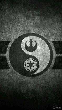 Star Wars Yin Yang Cellphone Wallpaper by on DeviantArt Star Wars Film, Simbolos Star Wars, Nave Star Wars, Star Wars Rebels, Tatoo Geek, Foto Logo, Der Alchemist, Darth Vader, Star Wars Tattoo