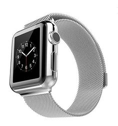 Touch Rage Apple Watch Band, Milanese Loop, Premium Mesh Stainless Strap with Magnetic Clasp, Silver