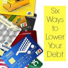 6 Ways to Lower Your Debt! - Freebies2Deals
