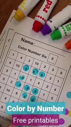 Color by Number 123 numbers Activity Squares Free Preschool coloring sheets Learning Numbers Preschool, Preschool Learning Activities, Preschool Curriculum, Free Preschool, Preschool Printables, Preschool Lessons, Preschool Worksheets, Kids Learning, Number Activities For Preschoolers