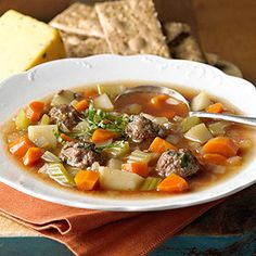 Meatball-Vegetable Soup