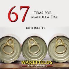 Wakefields staff collected 67 items from each branch for donation to ICare on Mandela Day. #Caring the #Wakefieldsway