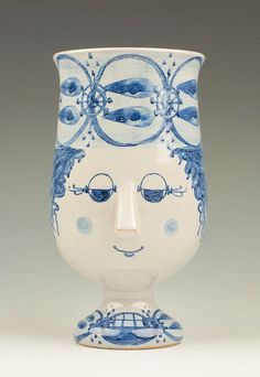 Signed Bjorn Wiinblad Face Cup by TableauxArts, $65.00