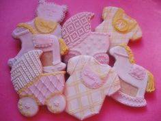 Three Dozen Vintage Baby Shower Cookies via Etsy