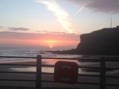 King Edwards bay beach tynemouth 7.45 am. 22 October 2014 www.tynemouthwebcam.com #sunrise