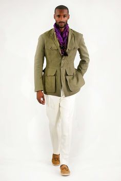 Ralph Lauren Spring 2017 Menswear Fashion Show Ralph Lauren, Look 2018, Male Fashion Trends, Fashion Brands, Safari Jacket, Gq Men, Moda Casual, Field Jacket, Men Street