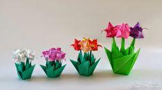Origami Maniacs: Origami Tulip by Isa Klein