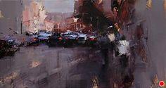 Shadowy Side by Tibor Nagy Oil ~ 9,8 x 17,7