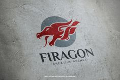The Fire Dragon Logo Template A unique logo featuring a dragon head with flames for many kinds of creative and professional business. Logo Dragon, Fire Breathing Dragon, Logo Design, Graphic Design, Fire Dragon, Unique Logo, Sports Logo, Logos, Logo Templates