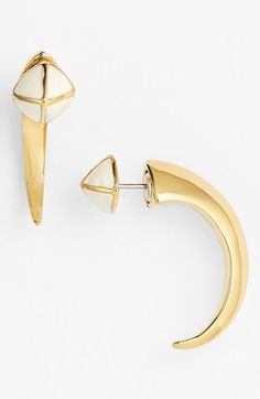 Vince Camuto 'Mayan Color' Reversible Small Hoop Earrings available at #Nordstrom