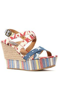 Cute wedges for Fourth of July