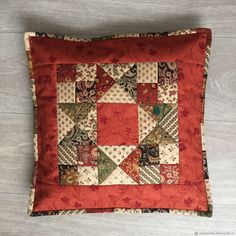 Home Textiles & Carpets handmade. Order 'Warm autumn' Patchwork pillowca… Home Textiles & Carpets handmade. Crazy Patchwork, Patchwork Bags, Patchwork Quilting, Patchwork Cushion, Quilted Pillow, Postage Stamp Quilt, Star Quilt Patterns, Dress Patterns, Pillowcase Pattern