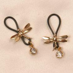 Non Pierced ....Comfortable to wear! Custom exotic swaying nipple jewelry
