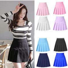 Top Japan Fashion & Korea Fashion & Asian Fashion Clothes And Accessories. Fashion D, Skirt Fashion, Fashion Outfits, Skirt Outfits, Dress Skirt, Cute Outfits, Cute Skirts, Mini Skirts, Pleated Skirts