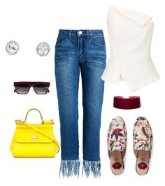 """""""Untitled #187"""" by kimdillinger on Polyvore featuring Gucci, Roland Mouret, Dolce&Gabbana and CÉLINE"""