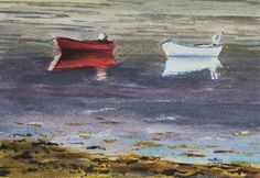 A little watercolour of a scene on a Scottish loch. I painted this from one of my photos.